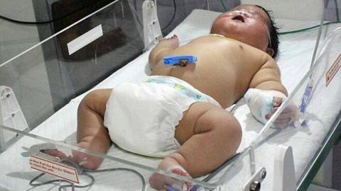Das größte Baby des Jahres 2015 ist kürzlich in Indien zur Welt gekommen.