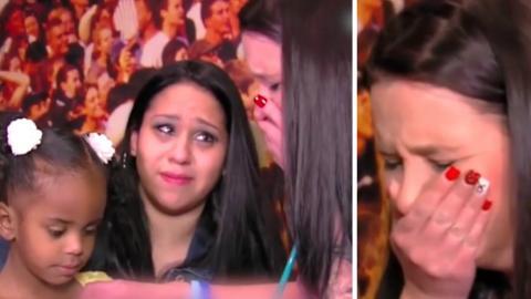 Sie verliert ihr Kind... Und bricht in Tränen aus, als sie drei Jahre später sein Herz schlagen hört