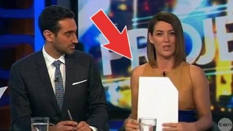 Das Kleid dieser australischen Moderatorin hat die Fernsehzuschauer ganz nervös gemacht!