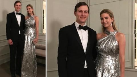Ivanka Trump: Die Tochter von Donald Trump stößt mit ihrem silberfarbenen Designer-Kleid in den sozialen Netzwerken auf heftige Kritik