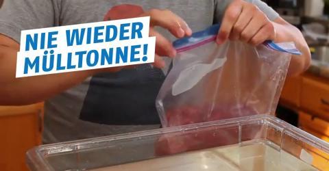 Lebensmittel luftdicht verpacken: Vakuumieren ohne teure Hilfsmittel