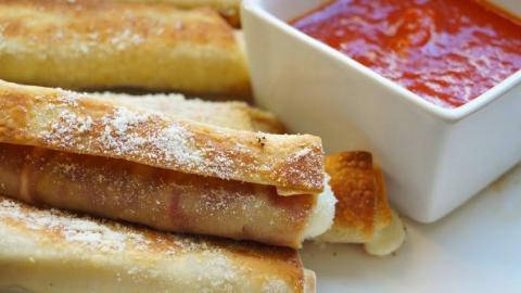 Leicht gemachte Rezepte: Pizzaröllchen