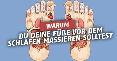 Mit einer kleinen Fußmassage ist gleich dem ganzen Körper geholfen!