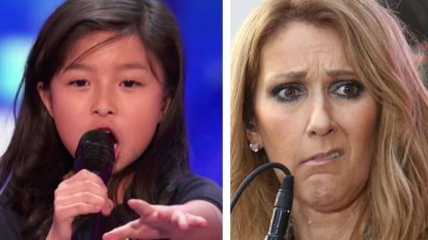 """America's Got Talent: Die 9-jährige Céline Tam singt """"My Heart Will Go On"""" von Céline Dion"""
