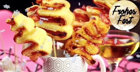 Rezept: Kleine Weihnachtsbäumchen aus Blätterteig