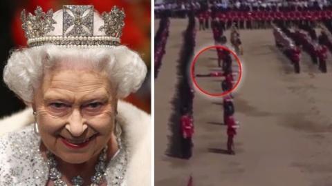 England: 5 Guards sind während der Geburtstagsfeier von Queen Elizabeth II zusammengebrochen