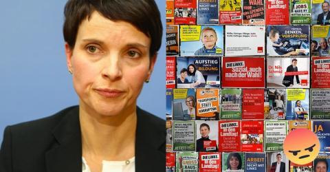 Dieses Wahlplakat sorgt für Riesen-Ärger bei Frauke Perty!