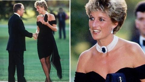 Entdecke die unerhöhrte Geschichte, die sich hinter diesem großartigen schwarzen Kleid von Lady Di steckt!