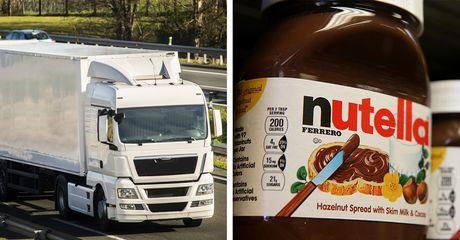 Zuckersüßer Raub: Diebe stehlen LKW mit 20 Tonnen Nutella