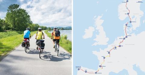 EuroVelo 3: Radweg mit über 5000 km Länge quer durch Europa