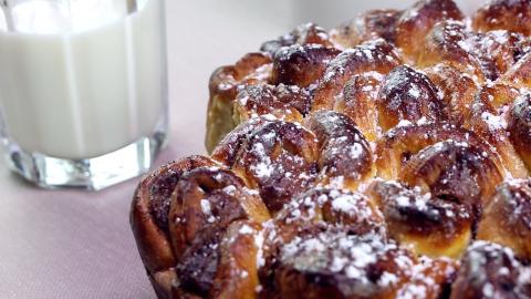 Ein leckerer Hefekuchen mit Nutella