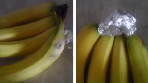 Dieser Trick ist unglaublich. Damit können Sie Ihre Bananen länger aufbewahren.