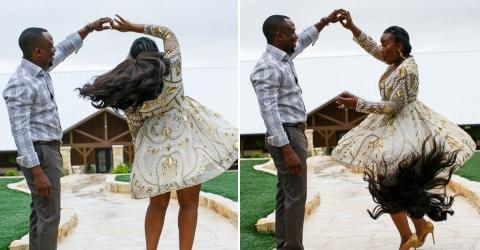 Die wundervolle Reaktion einer zukünftigen Braut, die ihre Perücke während eines Foto-Shootings verliert!