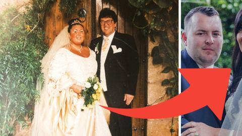 Aufgrund ihres Übergewichts behält sie ihre erste Hochzeit in schlechter Erinnerung... verliert 76 kg und heiratet ein zweites Mal