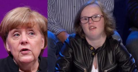 Dieses Mädchen rührt die Kanzlerin mit ihrer Frage. Doch ihre Reaktion sorgt für Diskussionen