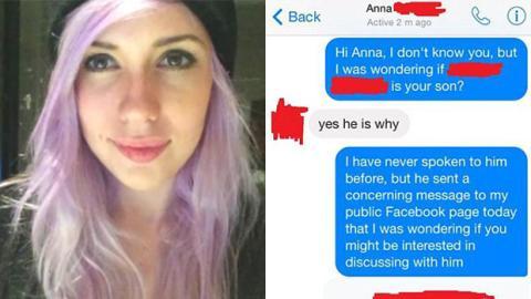 Dieses Mädchen wurde von mehreren Typen auf Facebook bedroht. Rache ist Blutwurst