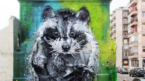 Street-Art: Mit einem bestimmten Mittel erstellt Artus Bordalo einzigartige Werke