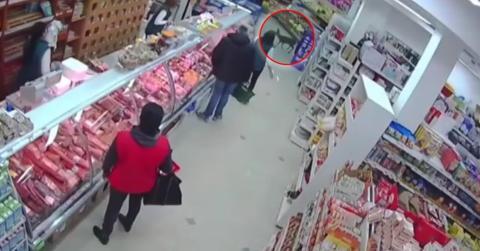 In Serbien verirrt sich ein verängstigtes Reh in einen Supermarkt