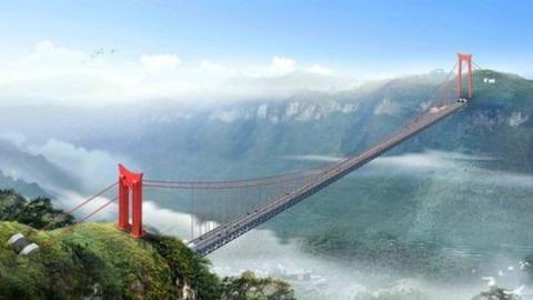 China: Die Aizhai Brücke ist die längste Hängebrücke der Welt