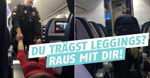 Warum du im Flugzeug keine Leggings tragen solltest!