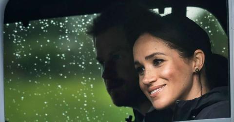Prinz Harry schütz seine schwangere Frau vor einem starken Mann