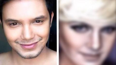Dieser Mann verwandelt sich dank dieses Make-ups komplett. Schauen Sie sich das Ergebnis an!