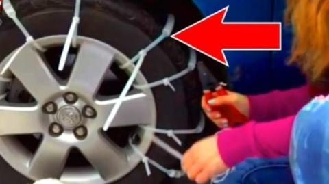 Hier die perfekte Technik, um zu verhindern, dass Ihr Auto im Schnee rutscht.