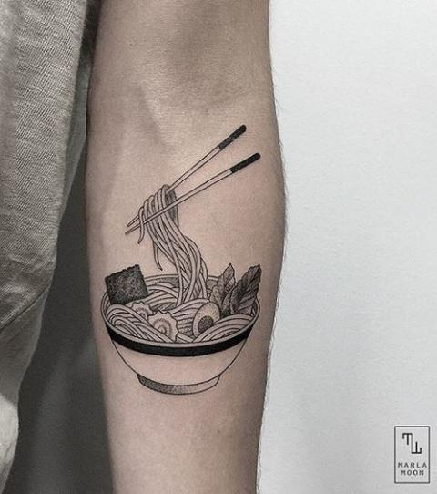 Noodle Bowl Tattoo