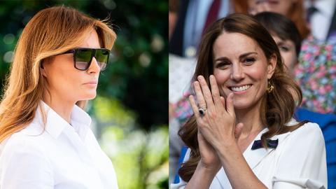 Melania Trump: So offensichtlich kopiert sie den Look von Kate