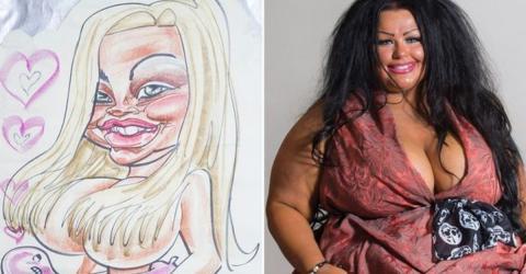 Als sie diese Karikatur von sich sieht, ändert sich ihr Leben für immer