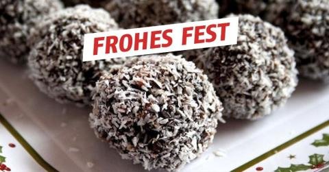 Rezept: Knusprige Schokoladentrüffel mit Kokosraspeln