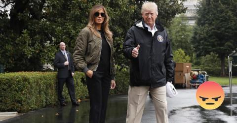 Amis stinksauer auf Melania Trump! Schau ganz genau hin!