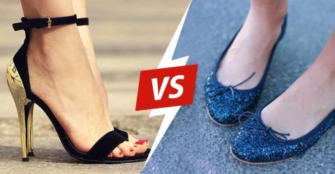 Flache Schuhe sind nicht unbedingt gesund