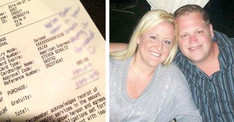Nach einem grauenhaften Service im Restaurant geben sie 100 Dollar Trinkgeld