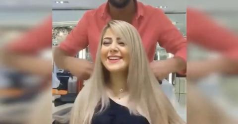 Sie will einen Bob, doch was der Frisör macht, lässt ihr das Lachen vergehen!