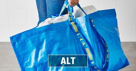 Blaue Ikea-Tasche bekommt ein neues Design