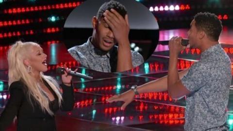 The Voice: Christina Aguilera ist von der Leistung eines Kandidaten so sehr beeindruckt, dass sie im Duo mit ihm singt