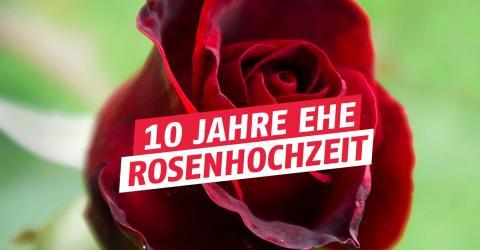 10. Hochzeitstag / Rosenhochzeit: Geschenkidee, Feier, Bedeutung