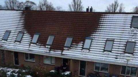Weil das Hausdach schneefrei bleibt: Polizei macht erstaunliche Entdeckung