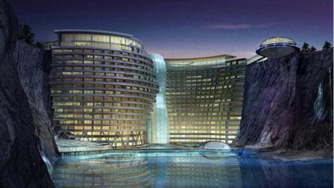 Das Intercontinental Shanghai Wonderland: Ein Fünfsternehotel mit Zimmern unter Tage und unter Wasser
