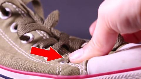 So bindet ihr eure Schnürsenkel in 2 Sekunden!