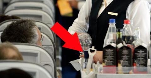 Getränke mit Kohlensäure sind im Flugzeug nur schwer auszuschenken!