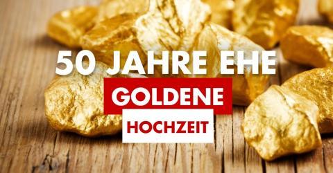 50. Hochzeitstag / Goldene Hochzeit: Geschenkidee, Feier, Bedeutung