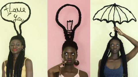 Laetitia Ky schafft aus ihrem Afro Kunstwerke. Ihre Message berührt zutiefst!