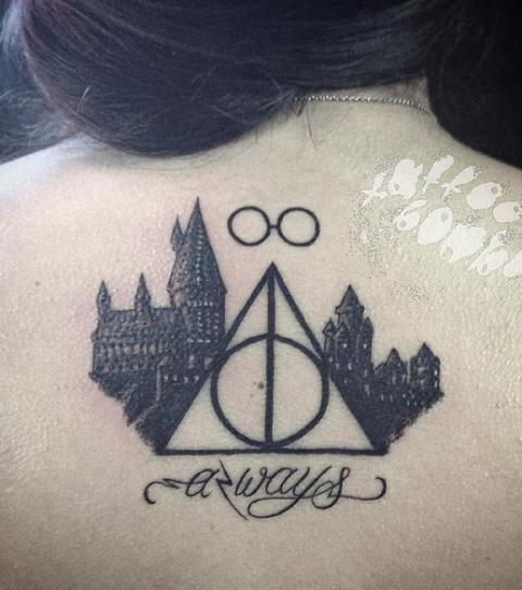 Patronus Schnatz Und Always Die Besten Harry Potter Tattoo Ideen