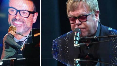 Nach dem Tod von George Michael widmet ihm Elton John eine bewegende Hommage in Las Vegas!