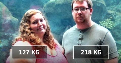 Ein fettleibiges Paar nimmt in kaum einem Jahr fast 140 kg ab
