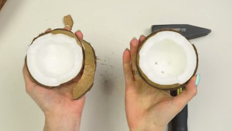 Das ist die beste Art, eine Kokosnuss zu öffnen.