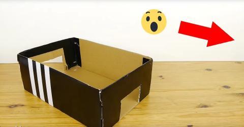 Tischfußball aus einem Schuhkarton. So einfach geht's!