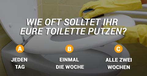 Wie oft, denkt ihr, solltet ihr eure Toilette putzen? Die Antwort seht ihr im Video!